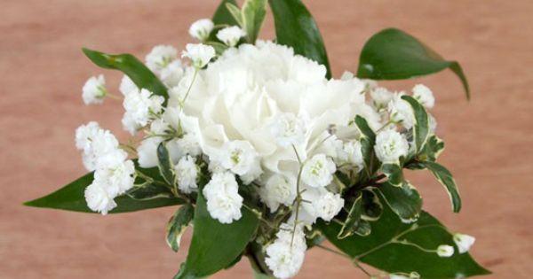 white #carnation #boutonniere by Ben White Florist ...
