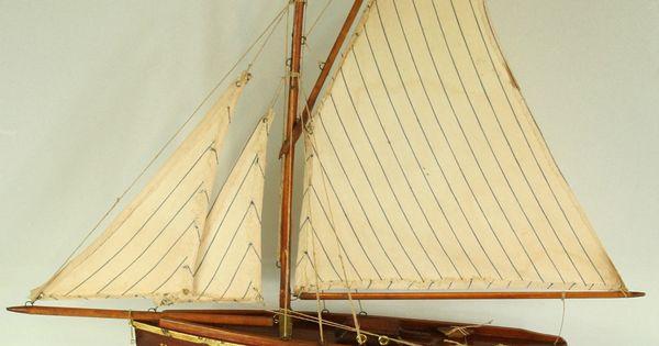 Nova n 4 acajou bateau voilier de bassin tr s bon tat in jouets et jeux jouets jeux - Voilier de bassin ancien nanterre ...