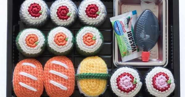 Amigurumi Sushi Cat : Amigurumi sushi (free pattern) Crocheted Toys/Amigurumi ...