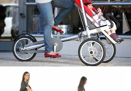 Holy Cool Idea. This bike stroller means you can really go the