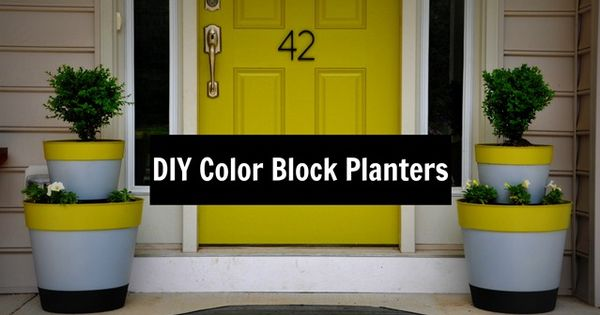 DIY Color Block Planters - for spring. And to use up the