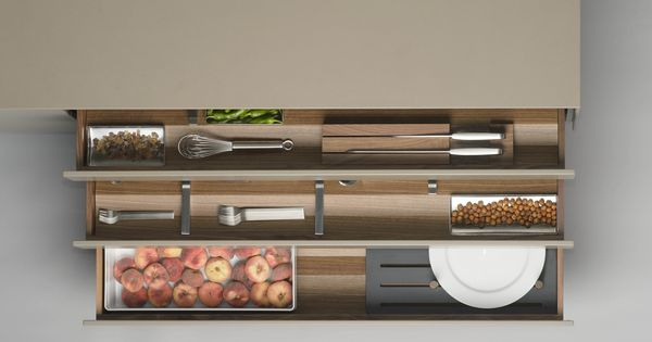 The bulthaup b3 prism interiors system can be utilised in for In drawer knife mat