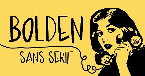 Bolden is a sans serif, playful, marker style font. With a full suite of uppercase and lowercase letters