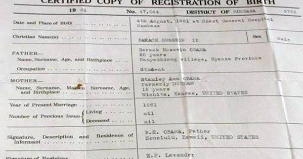 barack obama u2019s kenyan birth certificate  this is part of what obama has spent almost  2m to hide