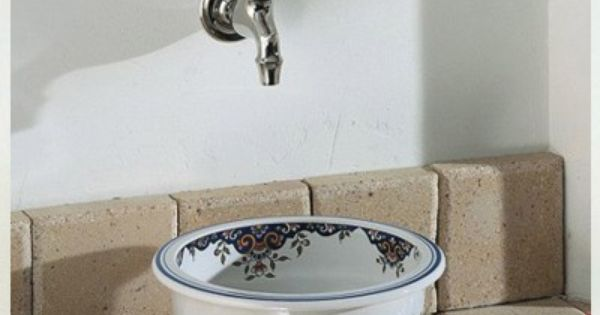 Skull Bathroom Sink : Herbeau Creations Rince Doigts Round Vessel Sink Bowl - White with ...