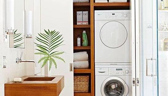 Buanderie magnifique chic et cosy pratique pour les petits appartements b - Seche linge appartement ...