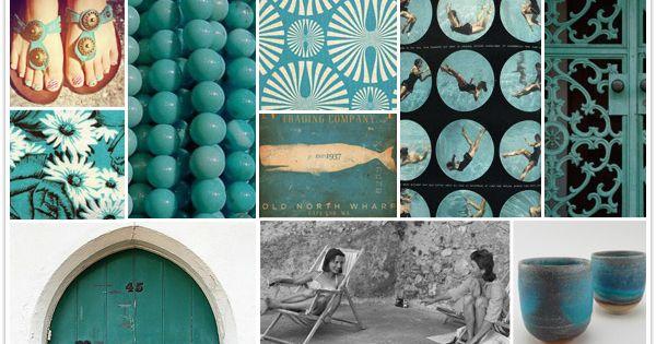 dark turquoise wall color and amalfi theme?
