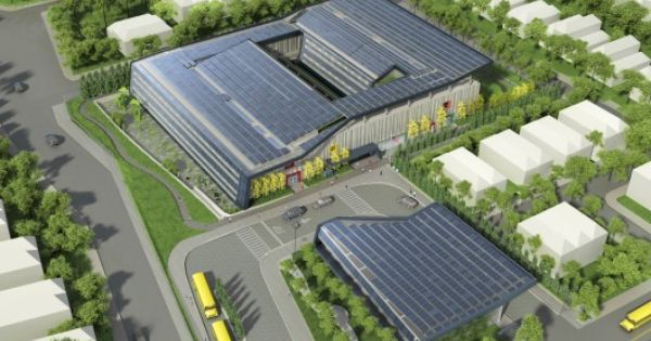11 8 12 Som S Net Zero New York School Aims For Ultimate Sustainability Primary School On Staten Island Will B Solar Architecture Architecture Zero Energy