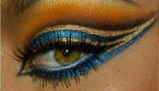 Cleopatra eyes: costume party