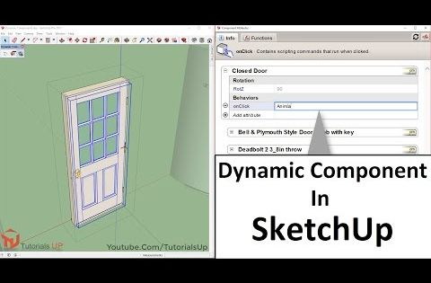 How To Make Dynamic Components In Sketchup Basic Youtube
