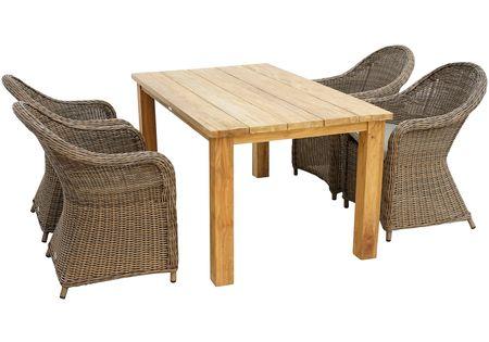 Ploss Gartenmobelset Lambrini 5 Tlg 4 Stuhle Tisch 160x90 Cm Polyrattan Terrassenmobel Gartenmobel Mobel