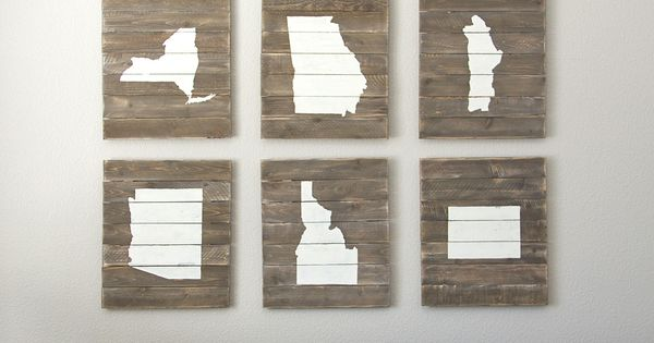 DIY Home State Scrap-Wood Art... display where you lived... Need to live