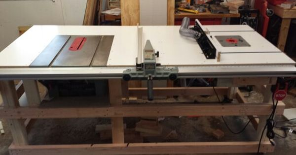 Table saw and router table station  woodworking  Pinterest  라우터 테이블 ...