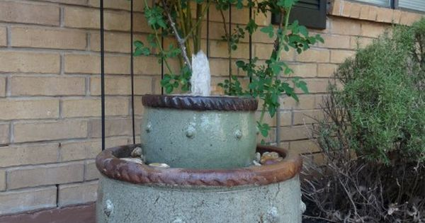 Diy Water Feature The Diy Adventures Upcycling Recycling And Do It Yourself From Around The