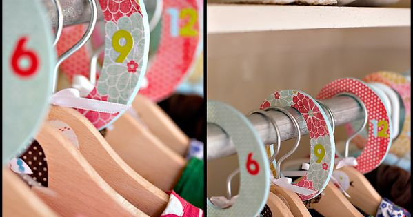 Great idea for dividers in the kids' closets, especially for baby clothing,