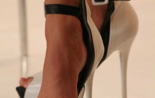 Sexy Black and White Heels fashion shoes black white heels ankle pumps