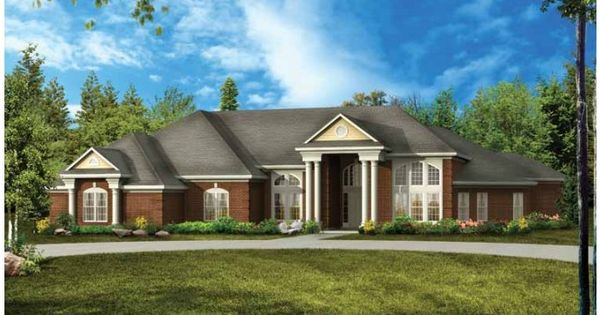 This striking colonial inspired home plan hwepl00880 for One story colonial house plans