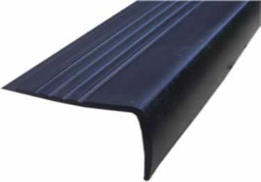 """12.5/"""" x 60/"""" Black Rubber Stair Treads Non-slip Indoor//Outdoor Cover Protector"""