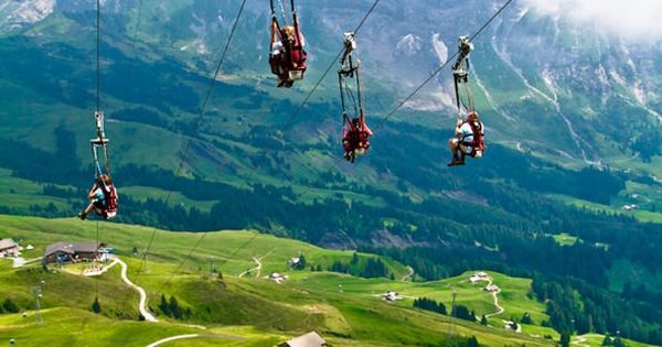 Mountain Ziplining, The Alps, Switzerland. Add to bucket list: zip line over