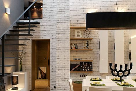 White brick! Loft in Bansko, Bulgaria by Fimera Design Studio office design