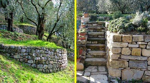 Famoso Esempi di muretti a secco con terrazzamento | Giardino, Terrazza RW04