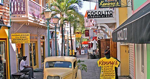 Philipsburg Old Street - Saint Martin, Caribbean