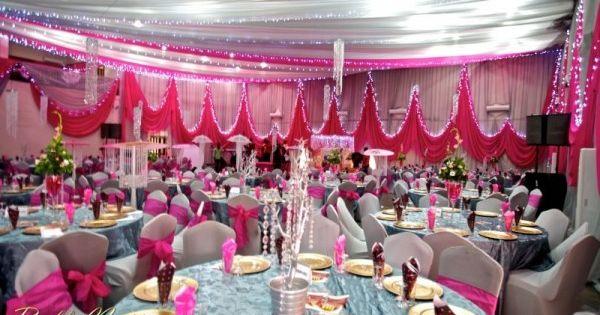 hot pink edo wedding reception at flamingo hall homeville hotel