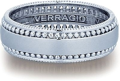 Gorgeous Diamond Encrusted Men S Wedding Band By Verragio Mens Wedding Bands Mens Wedding Rings Mens Wedding Bands White Gold