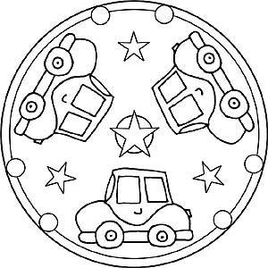 Auto Mandalas Kostenlose Ausmalbilder Fur Kinder Mandala Coloring Pages Mandala Coloring Mandalas For Kids