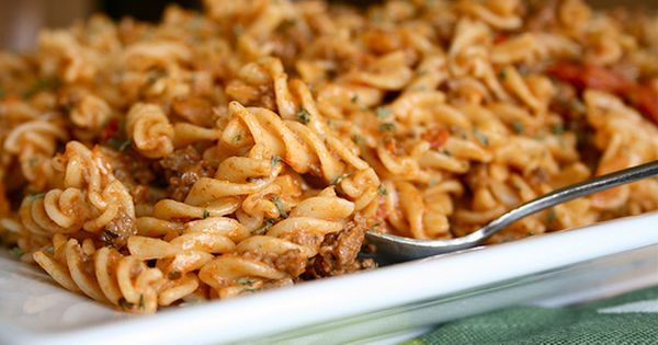 Cheesy Taco Pasta - this looks like a yummy easy recipe for