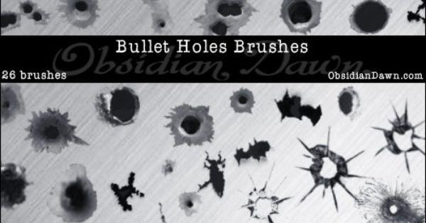 Bullet Holes Brushes By Redheadstock Deviantart Com On Deviantart Photoshop Textures Gimp Brushes Bullet Holes