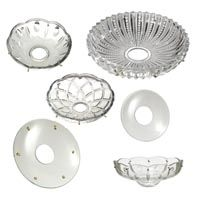 Crystal Bobeches And Dishes Replacement Glass Lamp Shades
