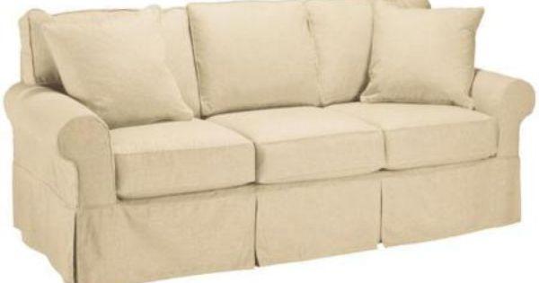 Nantucket slipcover 3 seater cushion sofa slpcvr sleeper for Sofa 0 interest