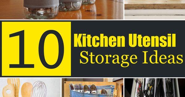 10 creative kitchen utensil storage ideas kitchen for Creative silverware storage