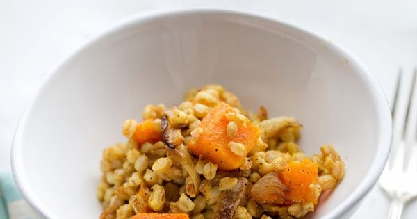 Baked Farro with Caramelized Onion, Butternut Squash & Garlic 3vegan # ...