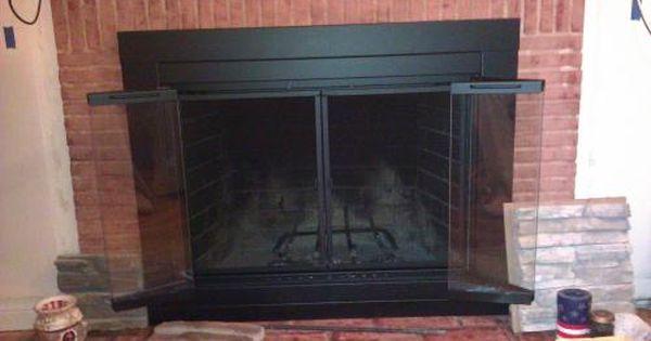 Pleasant Hearth Alpine Small Glass Fireplace Doors An 1010 The Home Depot Fireplace Glass Doors Fireplace Doors Fireplace