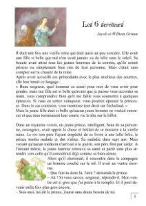 Conte Les Six Serviteurs Grimm Lecture Ce2 Conte