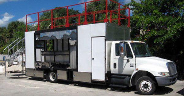 New Mobile Kitchen Restaurant Food Truck W Roof Top Seating Food Truck Patio Garden Design Restaurant