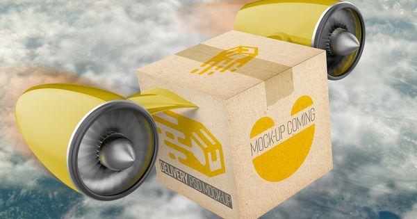 Download Delivery Cargo Box Psd Mockup Mockup Psd Psd Mockup
