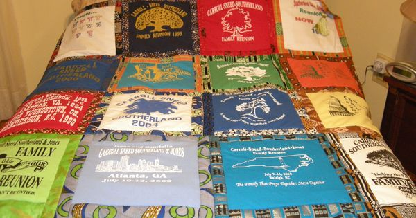 Family Reunion Quilt Made From The Reunion Tee Shirts