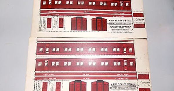 Victorian Railway Austral Train Model Passenger Coach Construction