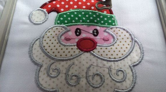 Santa claus applique santa claus design santa claus embroidery christmas applique christmas - Appliques exterieures ontwerp ...