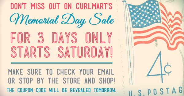 memorial day sale email