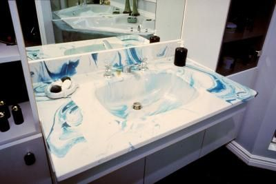 How To Repair Chips In A Faux Marble Sink Marble Sinks