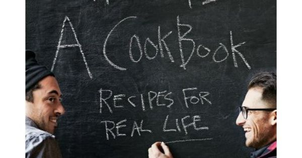 Chalkboard cookbook cover by Alexandra Zeigler