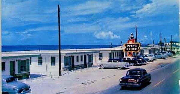 Peeks Beach Motel Panama City Beach Florida Postcard 1950 S Panama City Panama Panama City Beach Motels Panama City Beach Florida