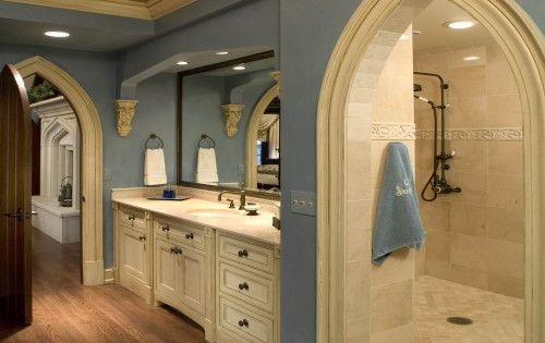 Amazing bathroom with a huge shower room!