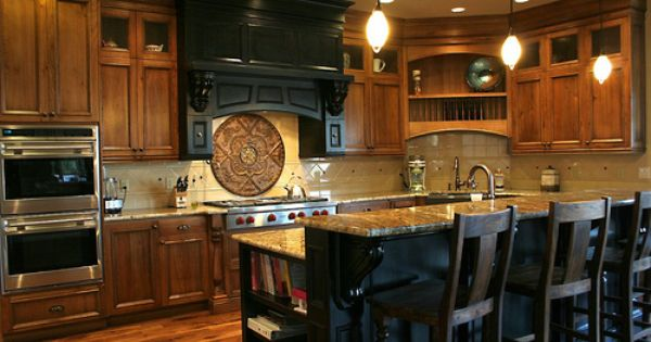 Black Dye Kitchen Island With Rub Through Custom Kitchens Kitchen Modern Country Decor