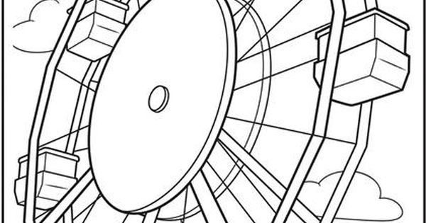 The Sky's The Limit With This Ferris Wheel Coloring Page