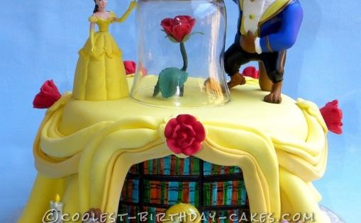 Jilly's Beauty and the Beast Birthday Cake... This website is the Pinterest